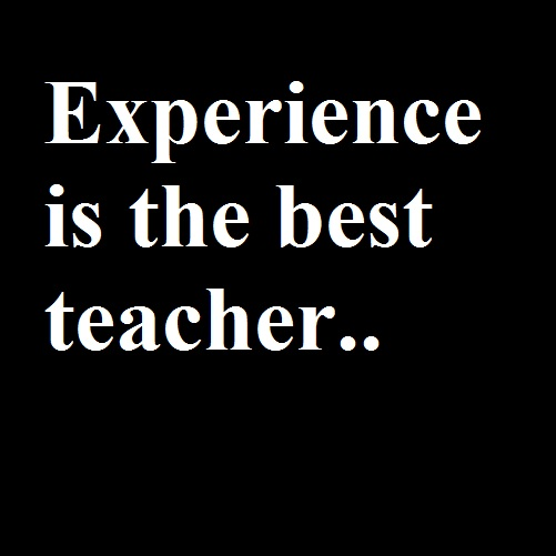 Experience is the best teacher essay