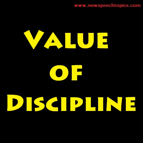 Custom speech writing value of disciplines