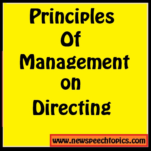Principles of management unit 4 Directing  Study Material download