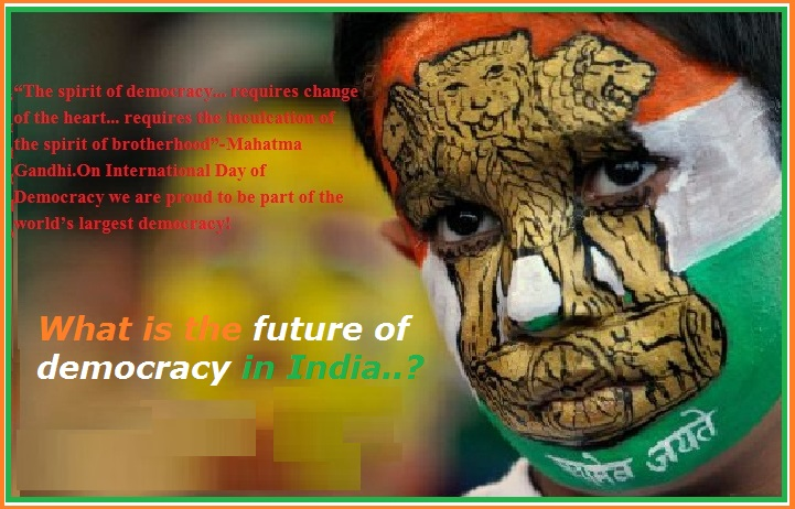 essay on the future of democracy in india