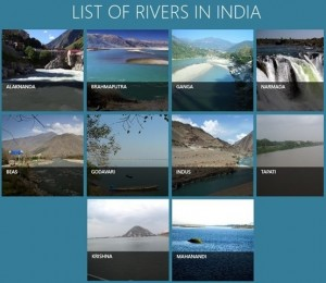 Major Rivers in India Essay Writing Topics