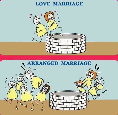 love marriage vs arranged marriage Are arranged marriages better than marrying for are arranged marriages better than marrying for love arranged marriage does not work that way because.
