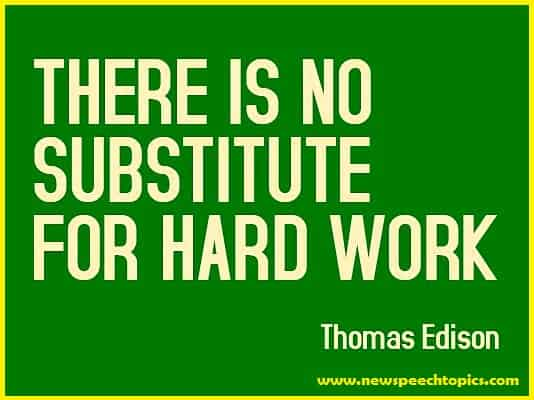 Essay on importance of hard work